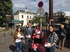 Distribution de ma lettre de candidature dans la rue piétonne du Centre ancien à Créteil